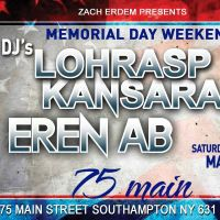 Memorial Day Weekend May 25 at Southampton