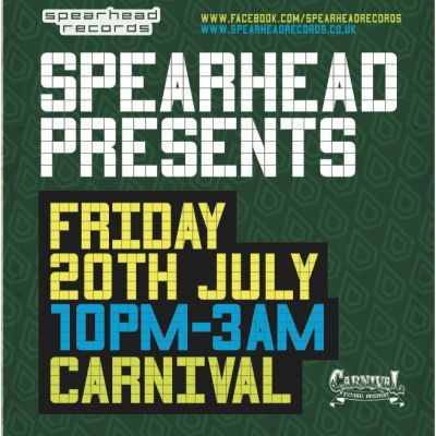 SPEARHEAD RECORDS PRESENTS OCTANE & DLR Tickets | Carnival Norwich  | Fri 20th July 2012 Lineup