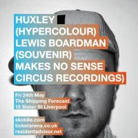 The Shipping Forecast Pres: Huxley (Hypercolour) and Lewis Boardman (Souvenir) at The Shipping Forecast
