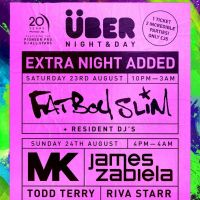 Uber August Bank Holiday Weekender- Fatboy Slim, MK & Guests