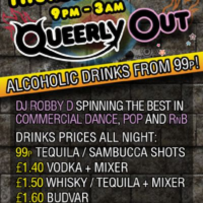 QUEERLYOUT | Escape Soho London  | Thu 23rd August 2012 Lineup