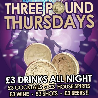 Three Pound Thursdays | Anam Bar Angel  | Thu 12th July 2012 Lineup