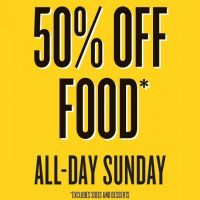 Sunday 50% off food at Inferno