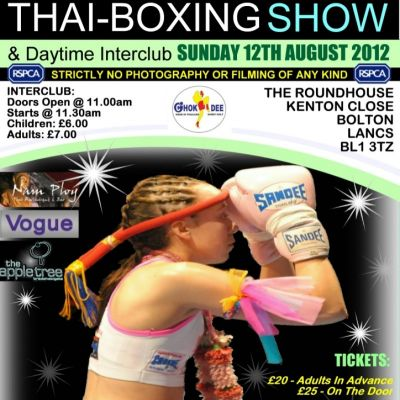 Thai-Boxing Show Tickets | The Roundhouse Bolton  | Sun 12th August 2012 Lineup