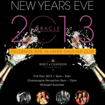 Oracle's New Year's Eve Party Tickets   Oracle Leeds    Tue 31st December 2013 Lineup