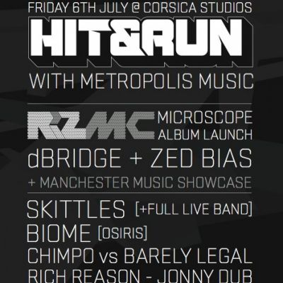 HIT&RUN LONDON presents RIZ MC, dBRIDGE, ZED BIAS, SKITTLES+more Tickets | Corsica Studios London  | Fri 6th July 2012 Lineup