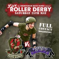 Birmingham Blitz Dames v Rainy City Roller Derby at Birmingham Futsal Arena