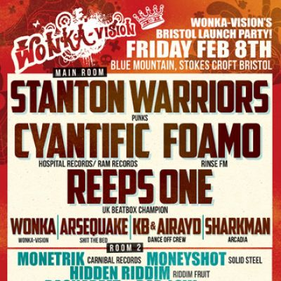 Wonka-Vision Bristol launch party | Blue Mountain Bristol  | Fri 8th February 2013 Lineup