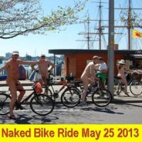 Portsmouth World Naked Bike Ride #3 at Fort Cumberland Car Park Eastney Portsmouth