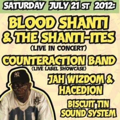 Blood Shanti & The Shanti-ites... Live | The Music  Cafe Leicester  | Sat 21st July 2012 Lineup