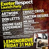 EXETER RESPECT FESTIVAL LAUNCH PARTY at Lemon Grove Exeter University