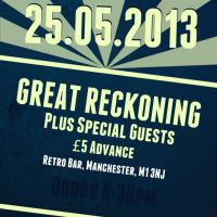 The Aftershock Events presents Great Reckoning + Support! at Retro Bar
