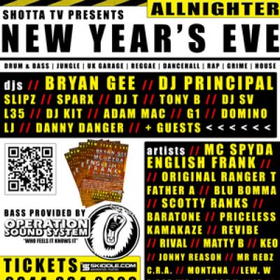 New Year's Eve in Preston (Shotta TV presents) at Tonic