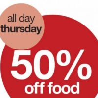 50% Off Food Thursdays! at Yates Portsmouth