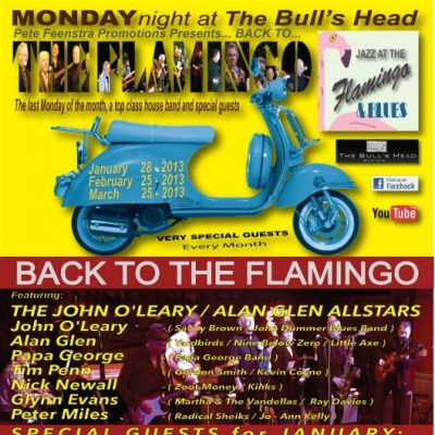 Back to the Flamingo Club | Bulls Head, Barnes Barnes, London   | Mon 28th January 2013 Lineup