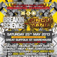 Breakin Science meets Jungle Mania at Great Suffolk Street Warehouse