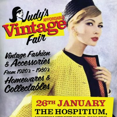 York's Affordable Vintage Fair | The Hospitium York  | Sun 26th January 2014 Lineup