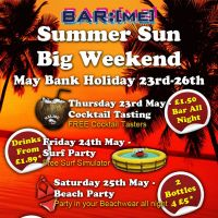 Summer Sun big Weekend at BarME Bournemouth