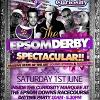 Curiosity presents The Epsom Derby Spectacular - Sat 1st June 2013 at Epsom Downs Race Course Curiosity Marquee