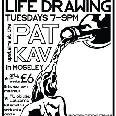 Pat Kav Life Drawing | Patrick Kavanagh Moseley  | Tue 15th January 2013 Lineup