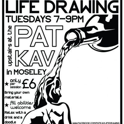Pat Kav Life Drawing | Patrick Kavanagh Moseley  | Tue 15th January 2013 Lineup