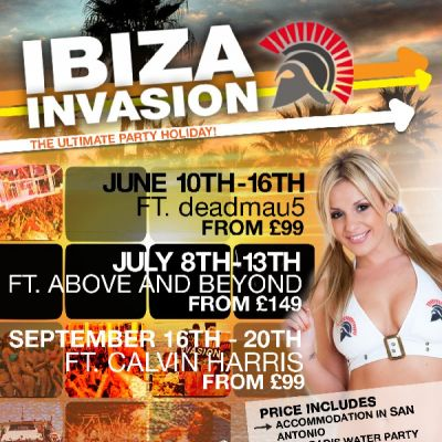 Ibiza Invasion | 16th - 20th September Tickets | Invasion Ibiza Hotel San Antonio  | Sun 16th September 2012 Lineup