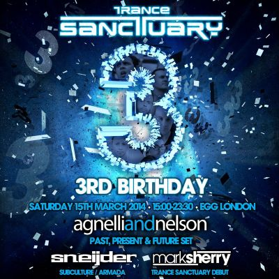 Trance Sanctuary 3rd Birthday Tickets | Egg London London  | Sat 15th March 2014 Lineup