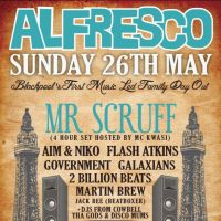 Alfresco presents Mr Scruff at Blackpool Cricket Club 