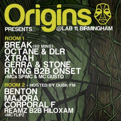 ORIGINS PRESENTS... @ LAB 11, BIRMINGHAM, 01/02/13 Tickets | LAB11 Birmingham  | Fri 1st February 2013 Lineup