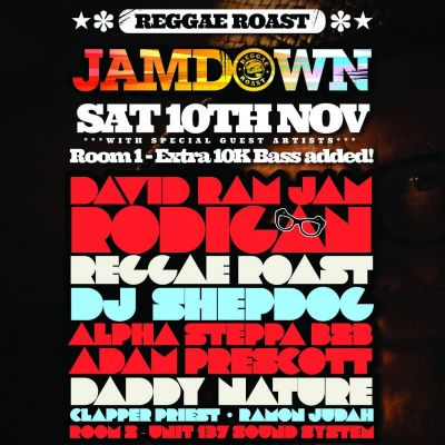 Reggae Roast Jamdown Tickets | Plan B London  | Sat 10th November 2012 Lineup